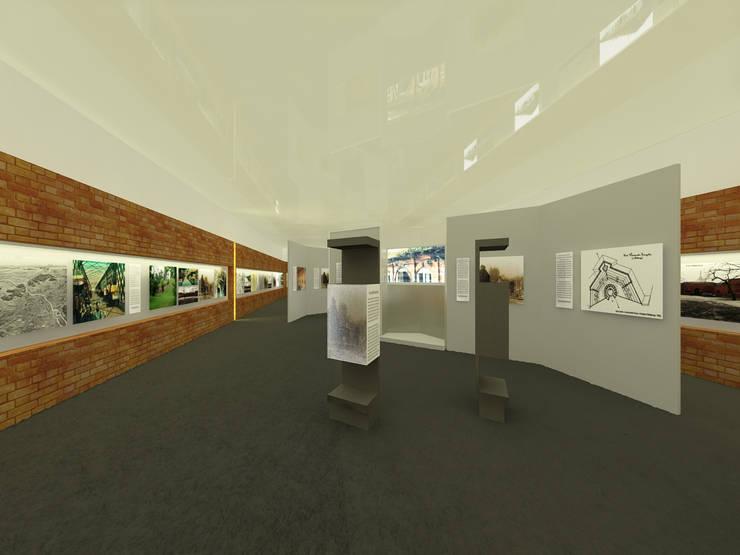 Ekspozycja nt. Fortów Cytadeli Warszawskiej: styl , w kategorii  zaprojektowany przez QCA