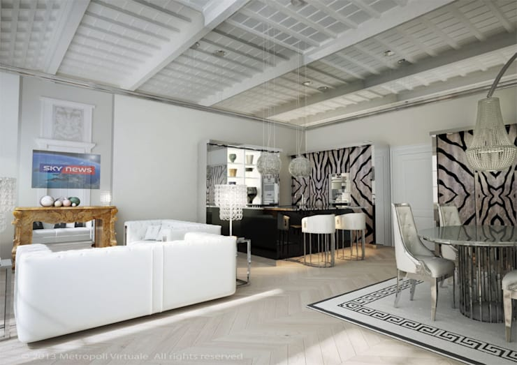 Residenza a ferrara: Soggiorno in stile  di Atelièr di progettazione, Eclettico