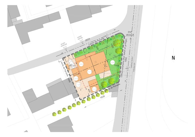 Maison individuelle, Saint-Tropez (83), 2014 – Réhabilitation – 100 m²: Maisons de style  par ERIC SANTOS • ARCHITECTURE