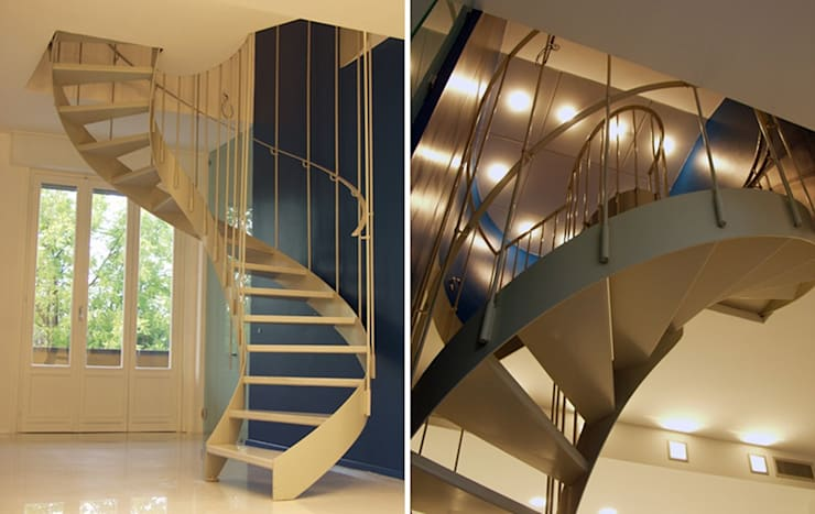 Attico A: Ingresso & Corridoio in stile  di Pier Maria Giordani Architetto