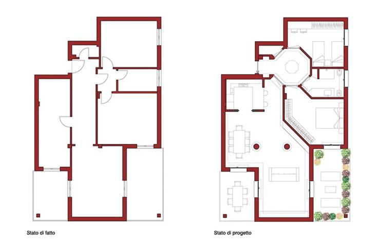 Casa AM: Case in stile  di Pier Maria Giordani Architetto, Moderno