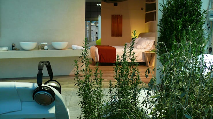 Wellness Room: Camera da letto in stile  di Studio Stefano Pediconi