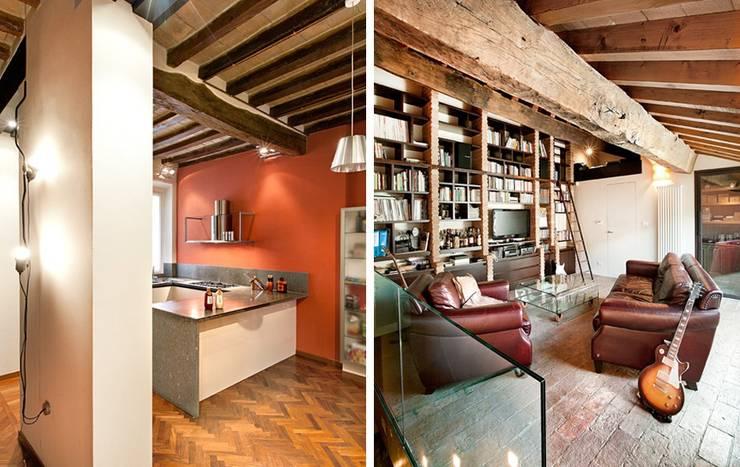 Casa Vecchi: Soggiorno in stile  di Pier Maria Giordani Architetto