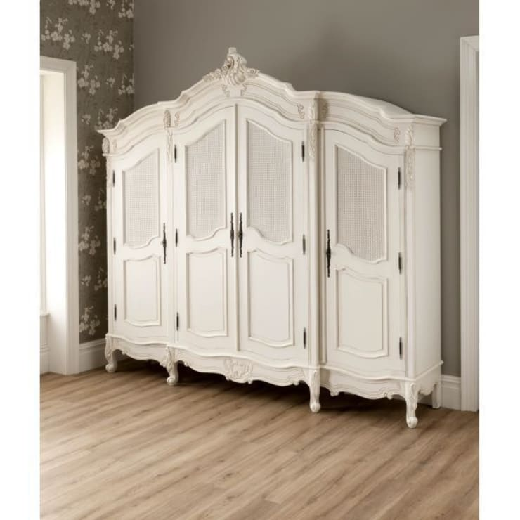 La Rochelle Antique French Wardrobe:  Bedroom by Homesdirect365