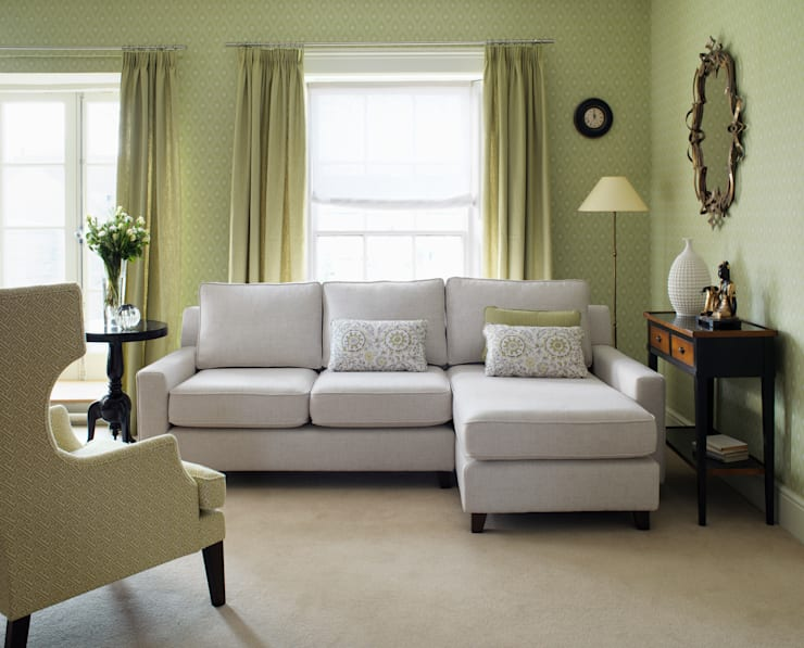 Sofas and armchairs:  Living room by Wesley-Barrell