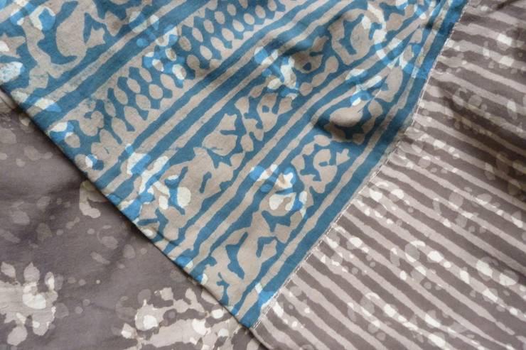 Dessus de lit ANIDORI Indigo/Mastic: Chambre de style  par Anindi