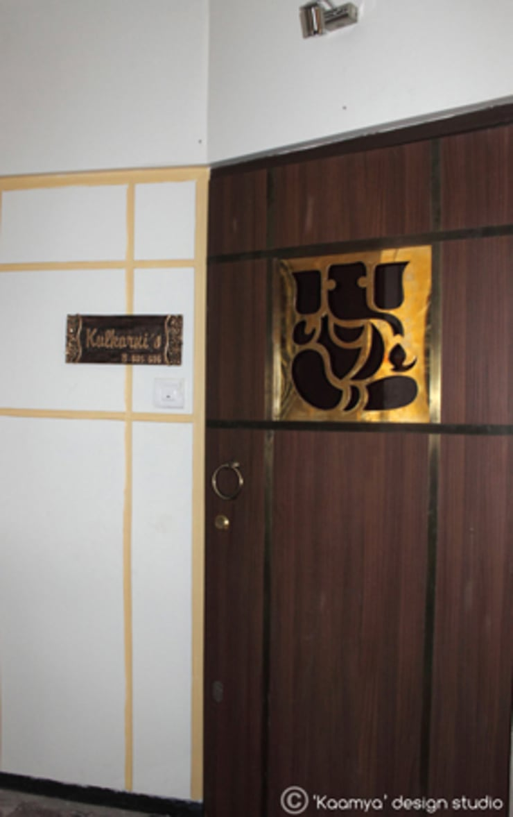 House Entrance:   by kaamya design studio