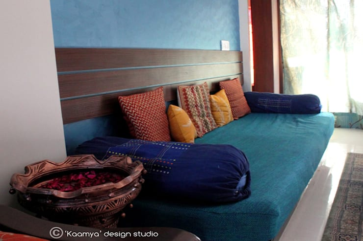 Indian Baithak By Kaamya Design Studio