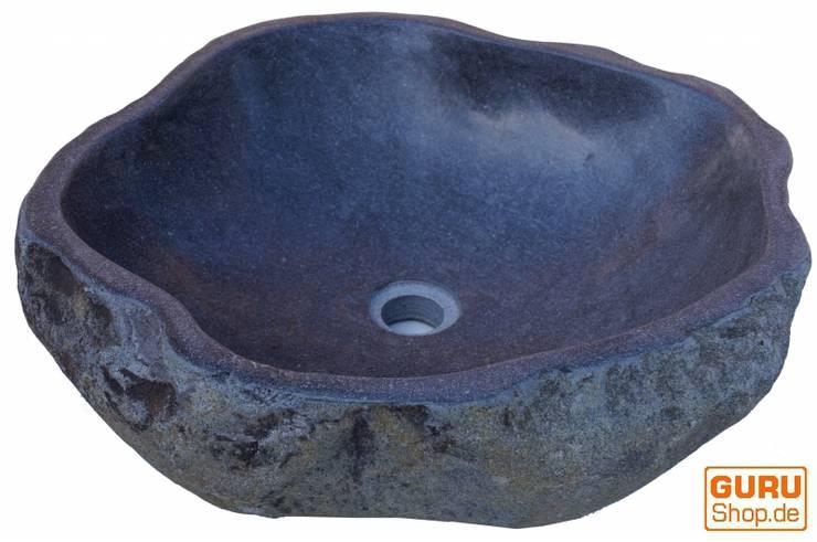 Flussstein-Waschbecken:  Küche von Guru-Shop,