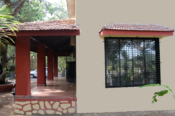 Bunglow exterior:   by kaamya design studio