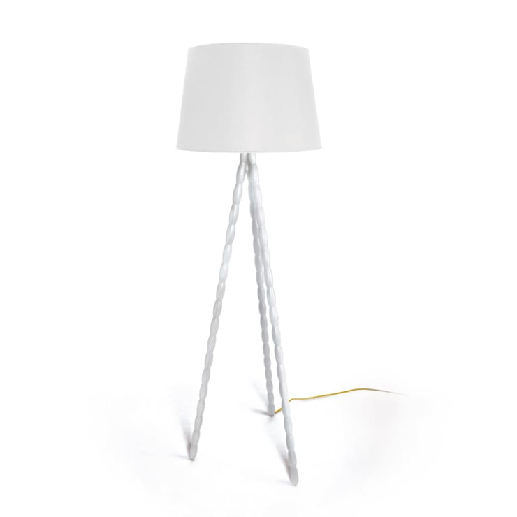 Illume floor lamp:  Living room by Barnard interiors Ltd