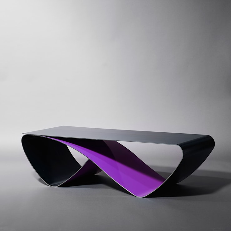 Table basse Infini (coffee table Infini): Salon de style  par Coco Steel