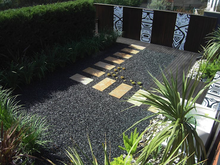 Sant Vicenç dels Horts: Jardines de estilo  de Simbiosi Estudi