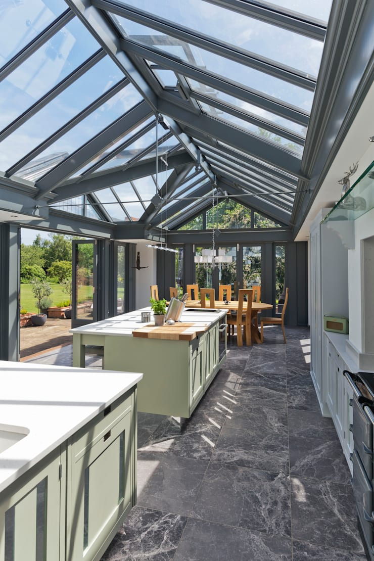 large kitchen conservatory door vale garden houses homify. Black Bedroom Furniture Sets. Home Design Ideas