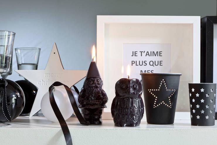 Bougie déco de Noël Nain: Salon de style  par Bougies la Française