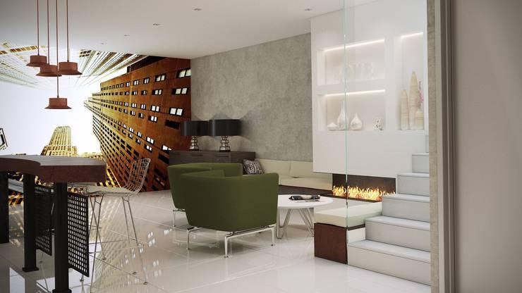 Vista entrada sala multiusos: Bodegas de estilo  de Gramil Interiorismo II - Decoradores y diseñadores de interiores