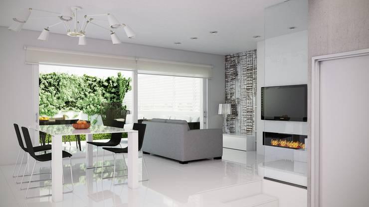 Vista entrada comedor/salón: Comedores de estilo  de Gramil Interiorismo II - Decoradores y diseñadores de interiores