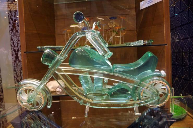 glass bike :  Artwork by atlantic designer glass
