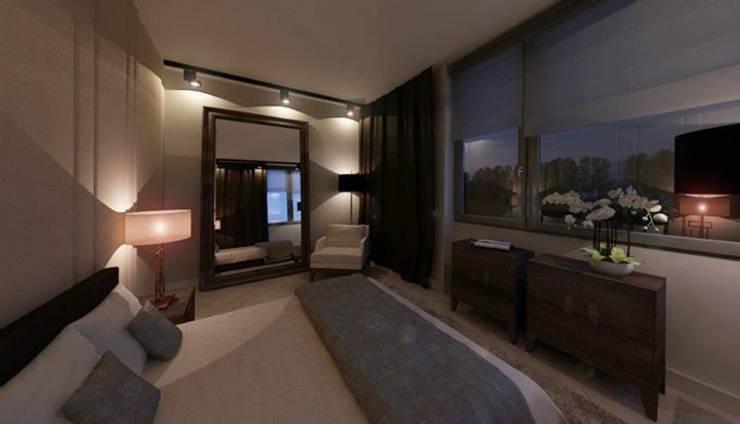 180m, Żoliborz: styl , w kategorii Sypialnia zaprojektowany przez dziurdziaprojekt