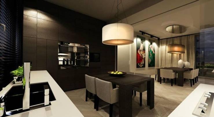 180m, Żoliborz: styl , w kategorii Kuchnia zaprojektowany przez dziurdziaprojekt