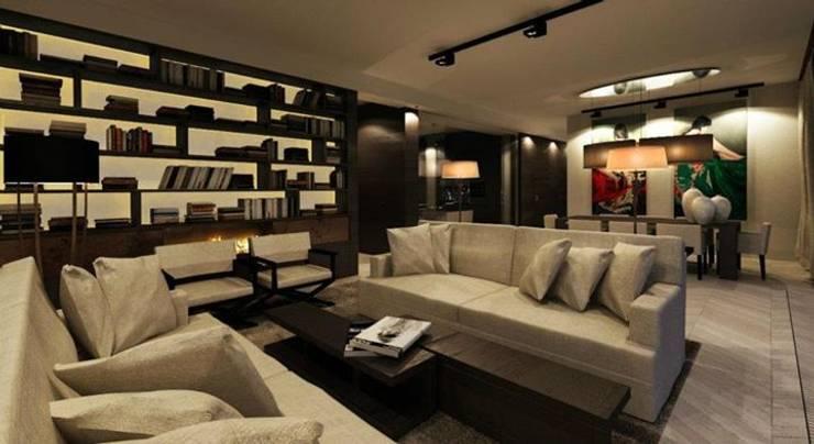 180m, Żoliborz: styl , w kategorii Salon zaprojektowany przez dziurdziaprojekt