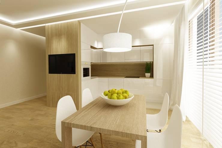 72m, Wola: styl , w kategorii Kuchnia zaprojektowany przez dziurdziaprojekt