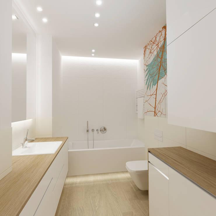 72m, Wola: styl , w kategorii Łazienka zaprojektowany przez dziurdziaprojekt