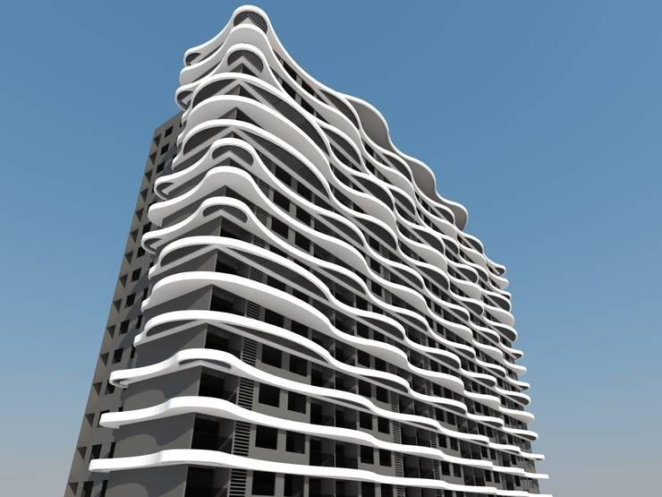 ARCHITECTURAL EXTERIOR VIEWS:  Artwork by NEX LVL DESIGNS PVT. LTD.