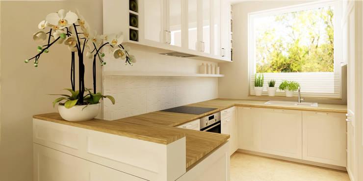 95m, Nadarzyn: styl , w kategorii Kuchnia zaprojektowany przez dziurdziaprojekt,Klasyczny