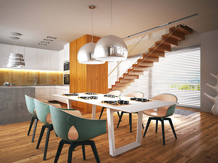 modern Dining room by LK & Projekt Sp. z o.o.