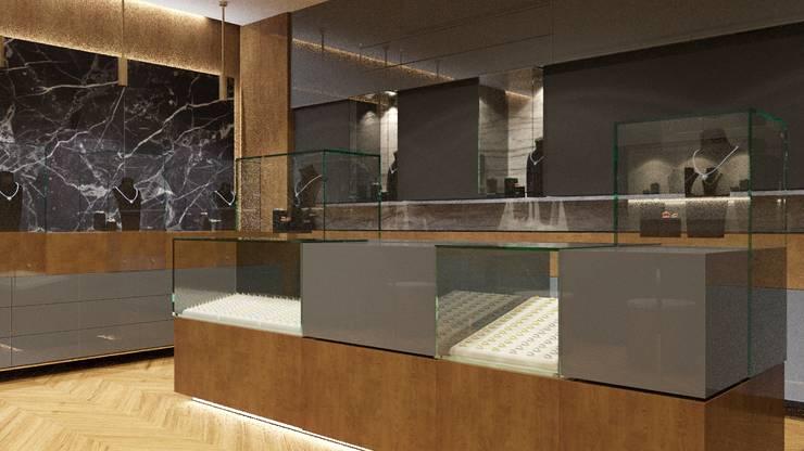 FARGO DESIGNS – JEWELRY SHOP DESIGN:  tarz Ofisler ve Mağazalar, Modern