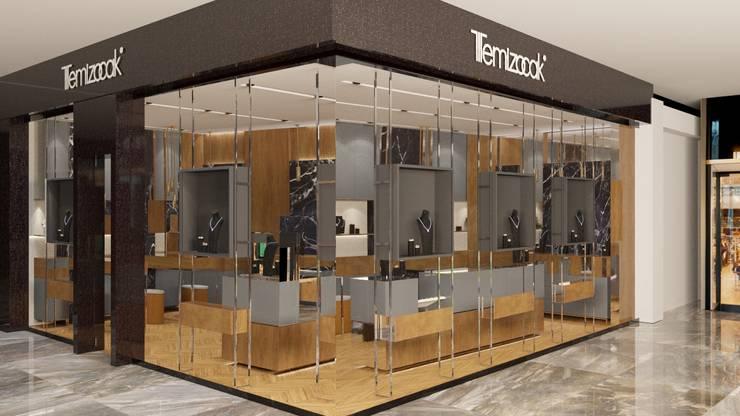 FARGO DESIGNS – JEWELRY SHOP DESIGN:  tarz Dükkânlar, Modern