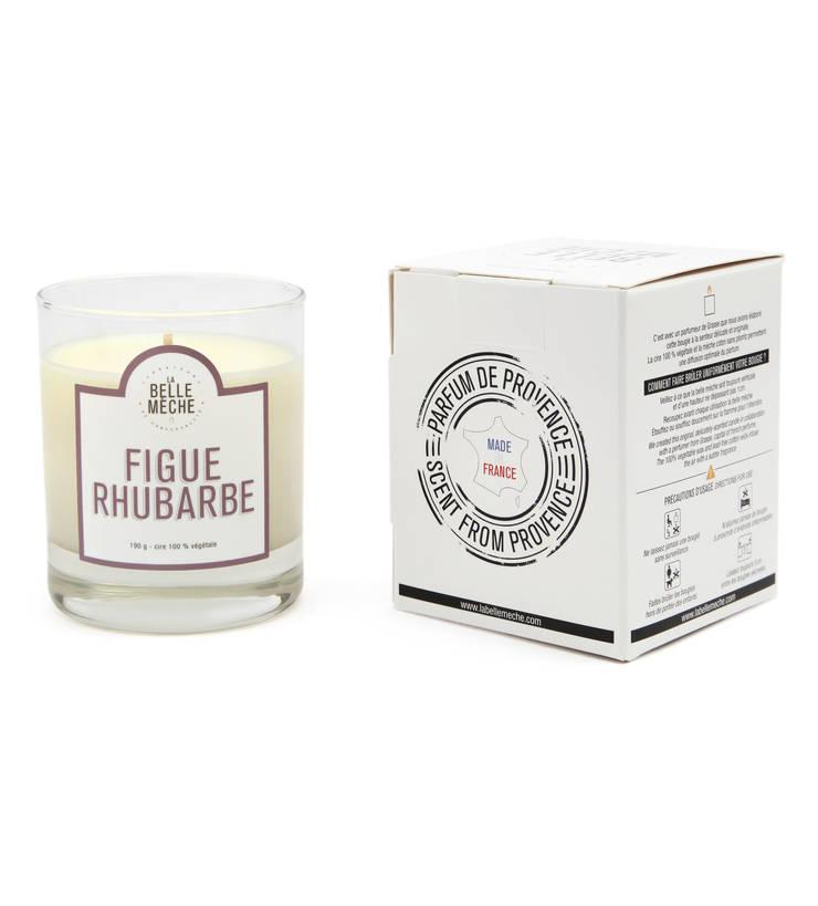 Bougie parfumée Figue Rhubarbe: Maison de style  par LA BELLE MÈCHE