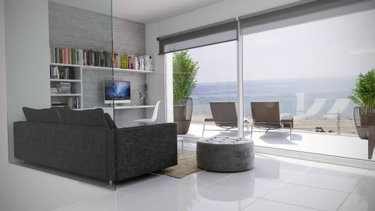 Ático con vistas al mar 2: Estudios y despachos de estilo  de Gramil Interiorismo II - Decoradores y diseñadores de interiores