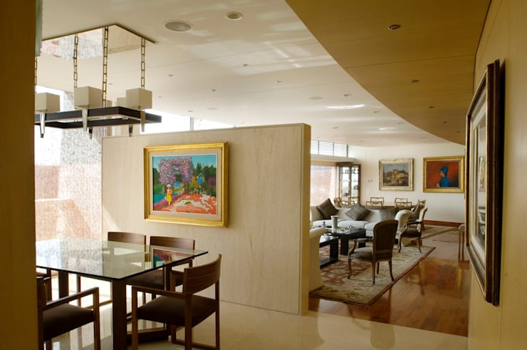 Departamento Vertientes Salle à manger par ARCO Arquitectura Contemporánea