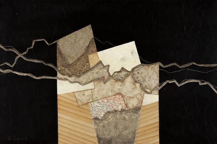 Panneau décoratif en marqueterie de papiers anciens: Art de style  par E ET B LOESCH PORTHEAULT