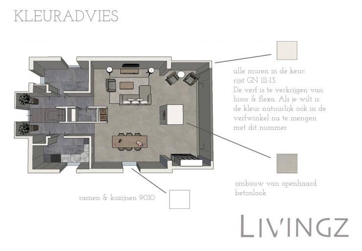 Kleuradvies:  Woonkamer door Livingz interieur