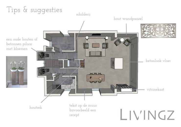 Tips & suggesties :  Woonkamer door Livingz interieur
