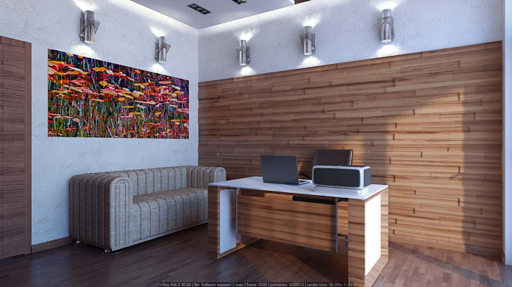 Рабочие кабинеты в . Автор – Architoria 3D, Минимализм