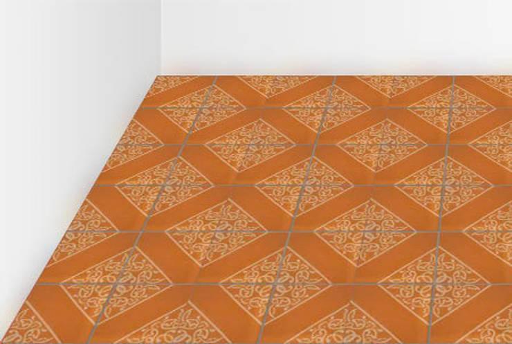Modelos de baldosa hidráulica: Paredes y suelos de estilo  de NATURAL FLOOR Suelo hidráulico