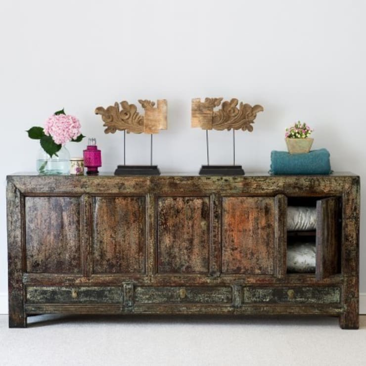 Distressed Lacquered Sideboard. Shang dong Province. C.1850 :  Living room by Orchid