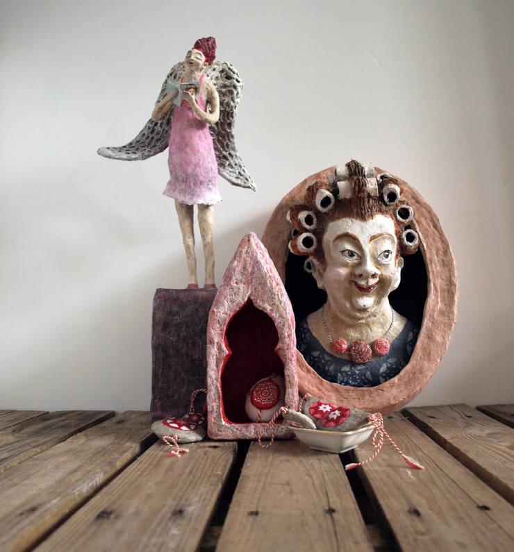 Handgemaakte sculpturen van papier mache :  Kunst  door The Paper Moon Factory
