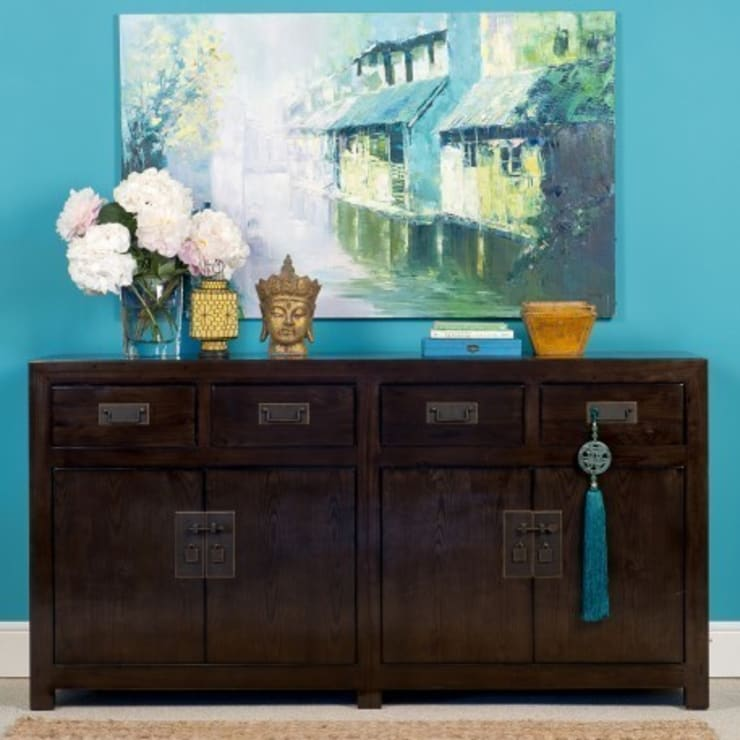 Brown Lacquer Sideboard - Mandarin Collection:  Living room by Orchid