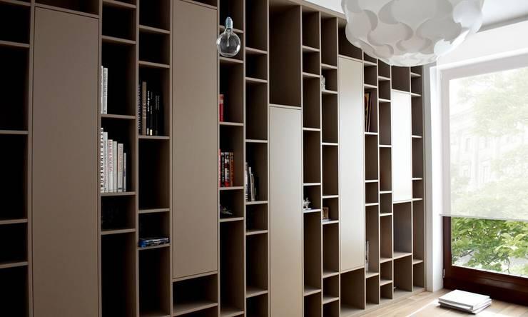 wnętrza nisza: styl , w kategorii Domowe biuro i gabinet zaprojektowany przez NISZA DESIGN ,