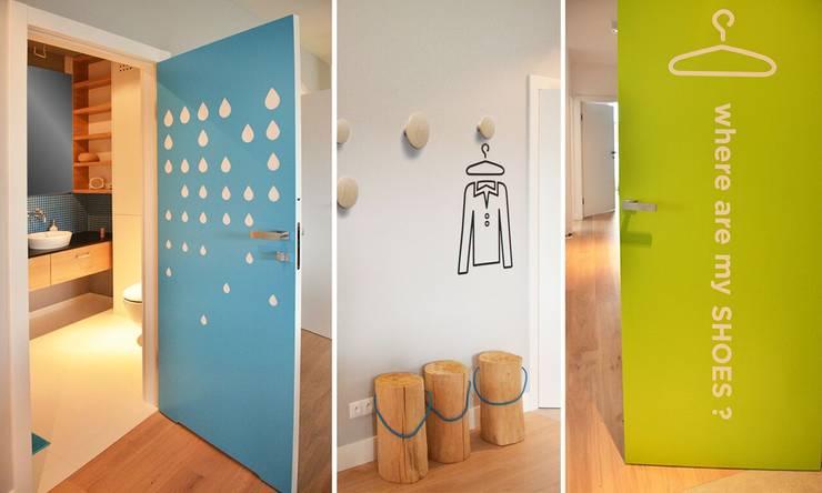 wnętrza nisza: styl , w kategorii Korytarz, przedpokój zaprojektowany przez NISZA DESIGN