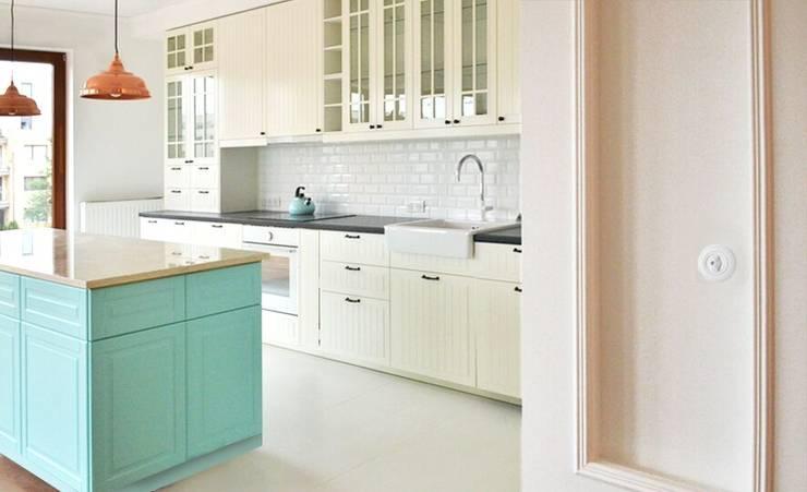wnętrza nisza: styl , w kategorii Kuchnia zaprojektowany przez NISZA DESIGN