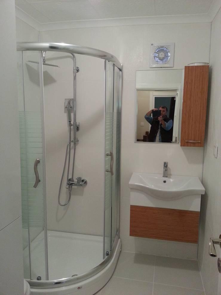 EDMİMARLIK INTERIOR STUDIO – AYVALIK ALTINOVA VİLLA:  tarz Banyo, Modern