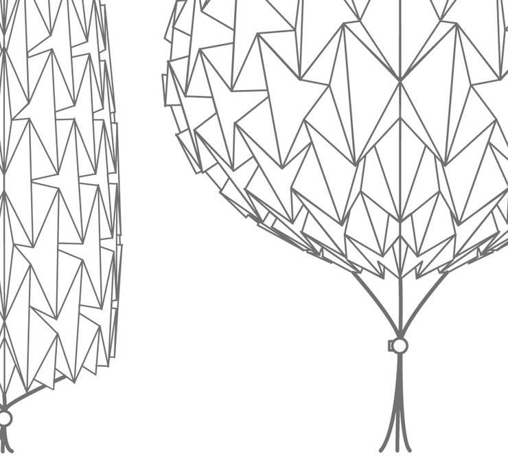 Gody lamp: Maison de style  par TEQZO