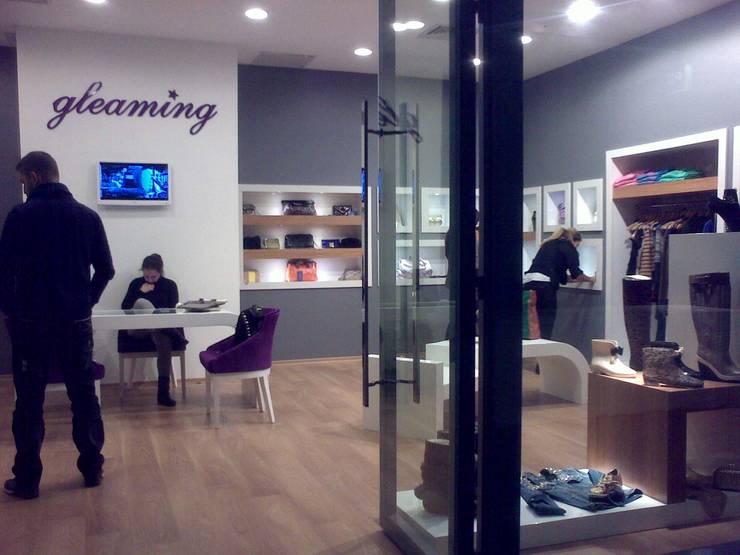 EDMİMARLIK INTERIOR STUDIO – Ataköy Marina Alışveriş Merkezi Mağaza:  tarz Dükkânlar