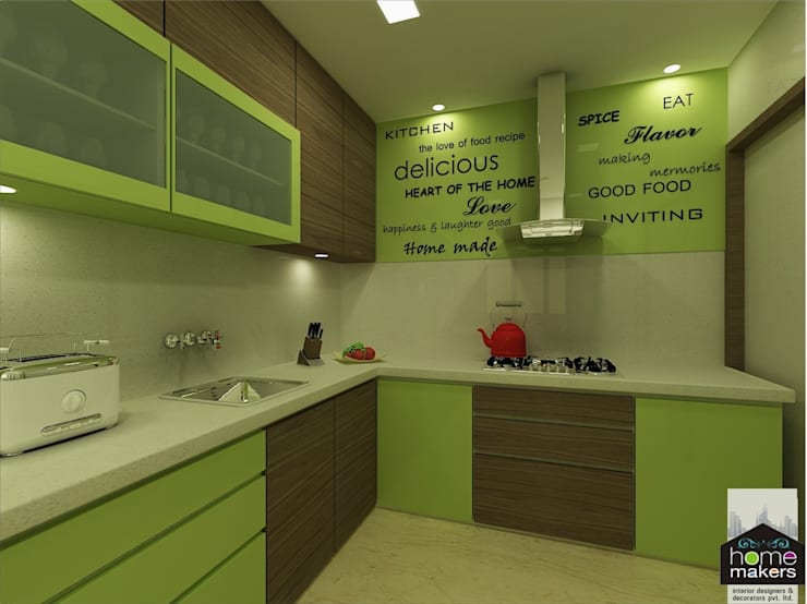 Ultra-modern and 'never seen before' art only by home makers:  Kitchen by home makers interior designers & decorators pvt. ltd.